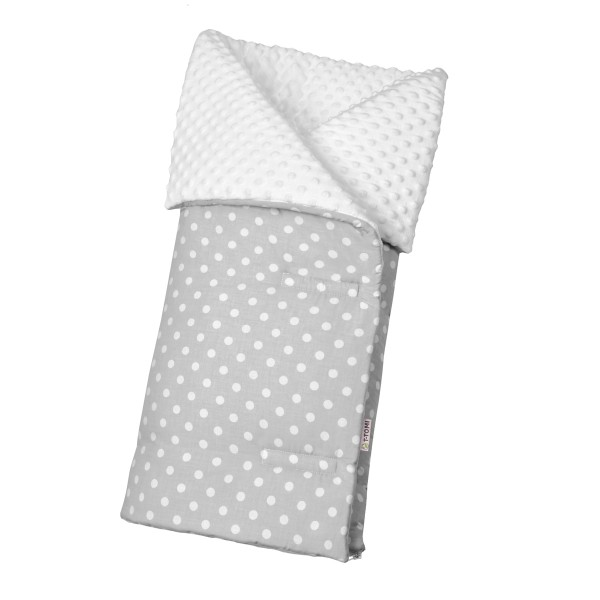 Babyfußsack grey dots