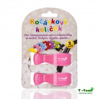 T-tomi Mulltuch-Clips in rosa, 2er Set