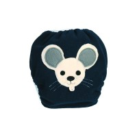 Bum Wrap Fleece-PUL Überhose Mouse Blue